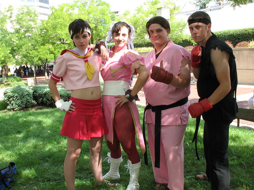 Sakura, Chun-Li, Dan Hibiki, Ryu