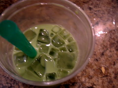 green tea w/ boba