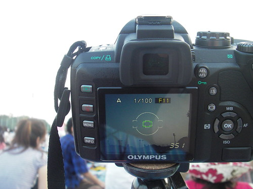 live view finder e-510 waiting for fireworks start