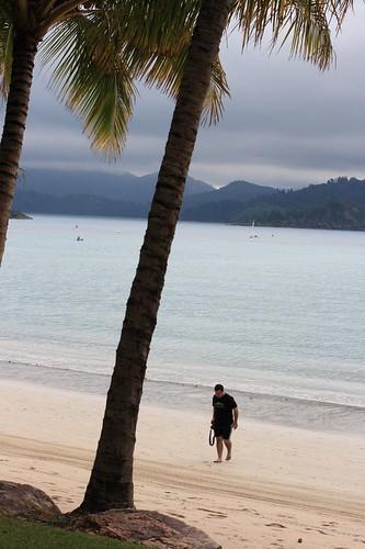 Sylvain, on the beach