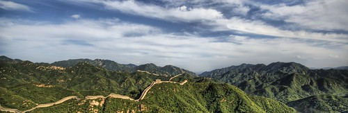 The Great Wall of China on a Summer Day