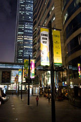 The Last Few People Home - IFC Mall, Hong Kong (mileswu) Tags: people building night skyscraper mall shopping hongkong lights central hong kong shops lamps banners ifc adverts