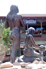 sinagua 2007 back right (ketrin1407) Tags: arizona sculpture fountain statue bronze nude sedona nativeamerican loincloth sinagua kliewer