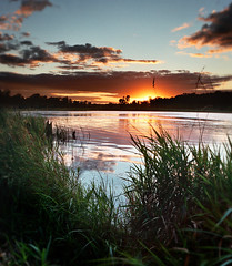 Defiance Lake sunset (James Jordan) Tags: park sunset lake film wow landscape illinois twilight exposure state dusk 100v10f hills blended moraine defiance mchenry shieldofexcellence superhearts