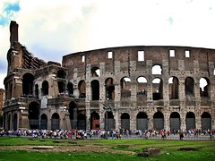 The Colosseum & the tourists (bekahpaige) Tags: summer italy rome roma europe italia tourists colosseum fv10 coliseum crowds supershot 10faves travelerphotos