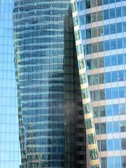 Towers // Tours (Stfan) Tags: city urban paris france reflection building tower window glass architecture modern skyscraper mirror construction europe tour reflet fentre ville immeuble ladfense verre urbain gratteciel