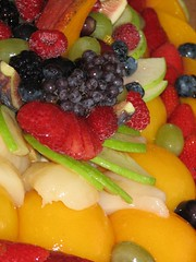 Fresh and delicious (techno_chic) Tags: california fruit glendale strawberries grapes peaches apples raspberries babyshower mangos portosbakery