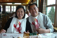 Brother-sister lobster eaters
