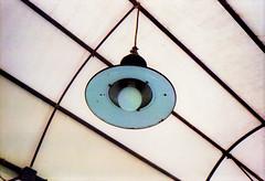 cyan lamp (| pavement |) Tags: mostra light lamp 35mm azure cyan ferrara canonet ql17 luce lampada palazzodeidiamanti passerella azzurra