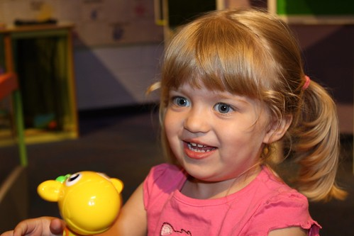 Catie playing at the kids' museum in Charlotte