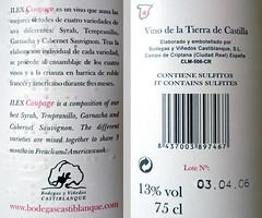 ILEX 2006 - VINO DEL MES - VINOTECA LA BUENA VIDA