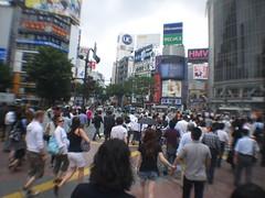 (kasa51) Tags: street city people distortion blur japan tokyo shibuya wide panasonic pancake 20mm  f17 gf1