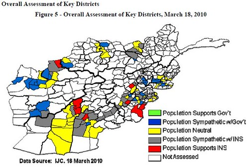 Pentagon's Overall Assessment of Key Districts in Afghanistan