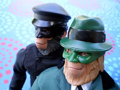 the Green Hornetang & Korno (8 Skeins of Danger) Tags: planetoftheapes cornelius meets kato drzaius thegreenhornet 8skeinsofdanger likesthemcaptainaction clothessets