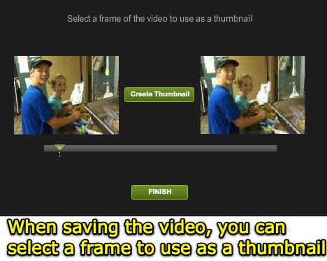 Select a frame as a thumbnail