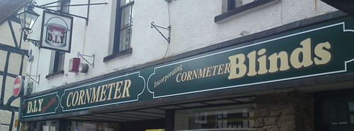 Cornmeter, Godalming. Shop signs