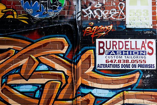 Graffiti off of Queen Street