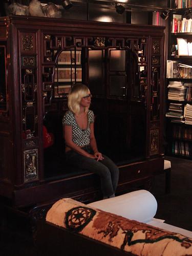 Cecilia films her confessional