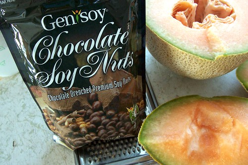 chocolate soy nuts canteloupe