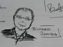 Richard Ishida sketches (Martin Kliehm) Tags: london w3c sketches i18n internationalization atmedia richardishida atmedia2007 atmedia07 upcoming:event=110091 chantalslagmolen