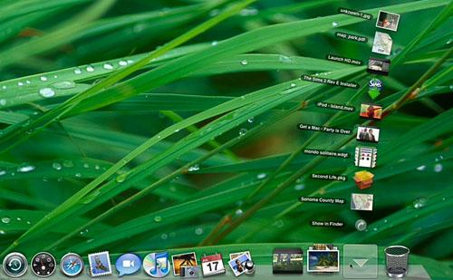 Nuevos Stacks en el Dock de Mac OS X Leopard