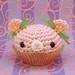 Amigurumi Pink spring cupcake bear