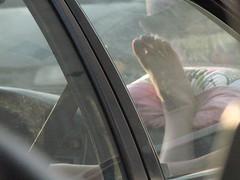 a foot (Ian Broyles) Tags: car foot driving