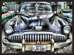 Buick Eight (K2D2vaca) Tags: old black car illinois buick rust rusty il rusted mansfield buickeight centralillinois route150 mywinners aplusphoto k2d2vaca villageshell mansfieldillinois supershell