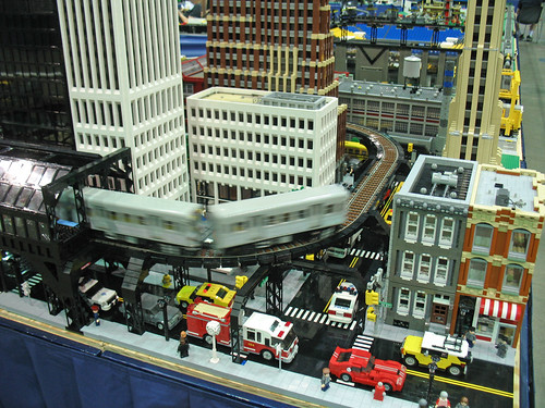 MichLTC LEGO City at NMRA 2007 National Train Show, Detroit, Michigan