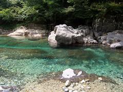 I swam here.