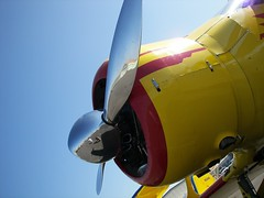 Prop Shot on a Staggerwing (Dusty_73) Tags: aircraft aviation merced beechcraft beech propellor staggerwing