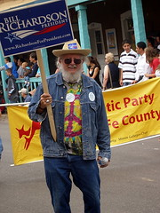 Stan earlier in the day campaigning for Richardson in the Fiesta parade