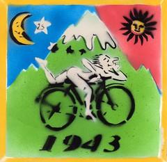 Albert Hoffman LSD blotter (stencil ) (SpUtNik 23 -RUR und MKZ) Tags: trip stencil acid albert lsd memory tribute hoffman pochoir blotter acide buvard drogue ahoffman