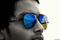 blue sea reflection sunglasses glasses cyan amir dreams maldives hani cliché malé spotters manaal dhoruhandi dudecrush haniamir djmanaal