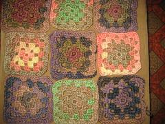 Granny Square Afghan (mudbugred2004) Tags: square prayer afghan shawl granny