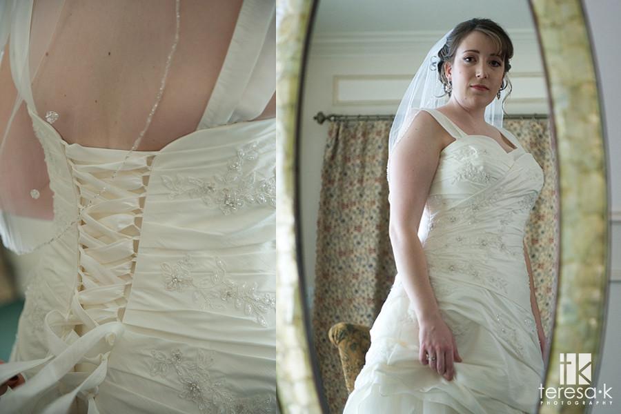 wedding dress details, Folsom wedding photographer, Teresa K photography