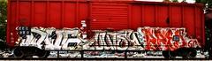 IMG_5811 (mightyquinninwky) Tags: railroad graffiti tag graf tracks railway tags tagged railcar rails boxcar graff graphiti freight trainart fr8 railart boxcarart freightart taggedboxcar paintedboxcar paintedrailcar taggedrailcar