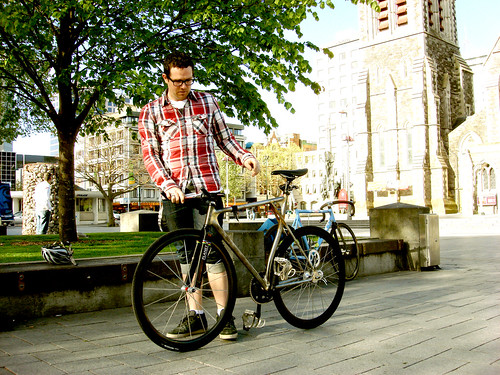 Chris and bike
