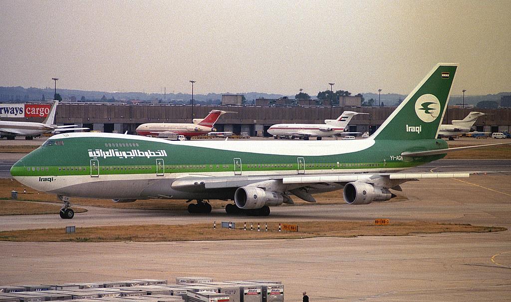 Iraqi Airways 747 YI-AGN [Tigris] at London Heathrow