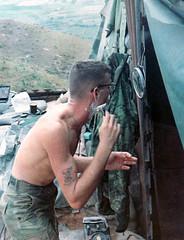 A Close Shave (eks4003) Tags: coastguard gijoe army freedom war peace hawk dove navy vietnam shaving marines 1970 airforce gi nam veterans commies veteransday vets
