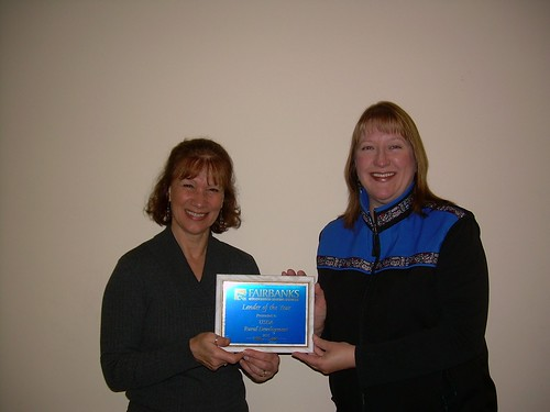 USDA Loan Specialist Kim Wood (left) and Housing Technician Jane Gibson broke Interior Alaska office housing lending records during fiscal year 2010