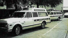 Sparkman / Hillcrest Morticians, city contract ambulances, Dallas, Texas, 1972 (Dr. Mo) Tags: dallas texas pcs ambulance medicine bls ems emt firstaid sparkman emergencymedicine rossavenue staroflife ambulancedriver deathcare drmo jimmoshinskie funeralhomeambulance oldambulances sparkmanhillcrest georgewlaudermilk funeralcustoms professionalcarsociety scenesafety