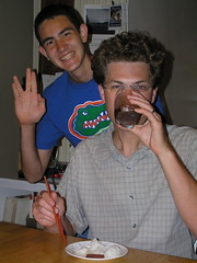 Ian Celebrates His Victory