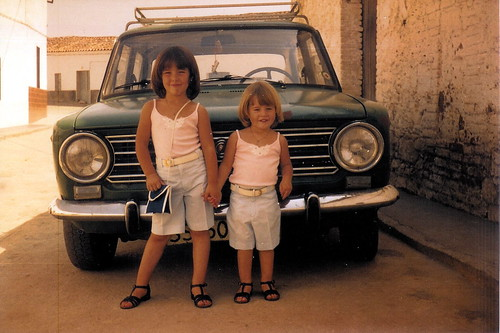 Marga and Belén With Car