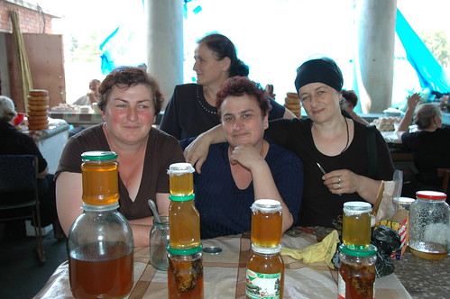 Friendly Vendors at Zugdidi Market in Georgia