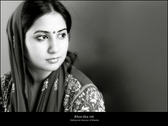 Bhavika 06 (rkmenon) Tags: portrait people blackandwhite woman india smile look lady canon eos 50mm veil faces traditional portraiture maharashtra portfolio mumbai bharat 50mm18 indianwoman bhavika rkmenon
