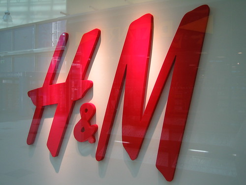"""h&m-logo through window"""