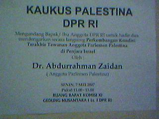 Kaukus Palestina, Abdurrahman Zaidan