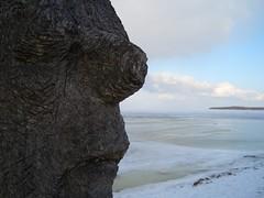 Greifswald im Winter (*Sabrina) Tags: schnee winter germany deutschland gesicht meer wasser wolken skulptur blau eis auge nase mund greifswald kste hansestadt mecklenburgvorpommern splendiferous