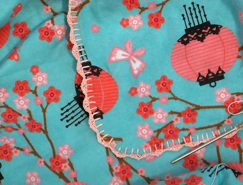 lantern blanket closeup